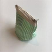 아에이오우 Aeiou Basic Pouch (M size) lime water check