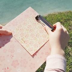 부리 벚꽃 A4 클립보드