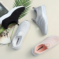 kami et muse Fine knit mash sneakers_KM18s188