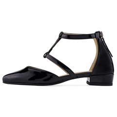 SPUR[스퍼] 플랫 MS9045 Ankle T strap 블랙