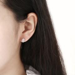 [925 실버] 물방울 핑크 원석 귀걸이