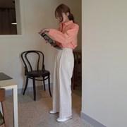 린넨 와이드 밴딩 팬츠 (3color)