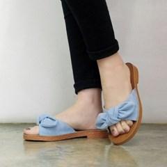 kami et muse Tied ribbon flat slippers_KM18s189