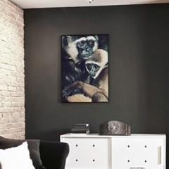메탈 동물 포스터 그림 아이방 액자 몽키스