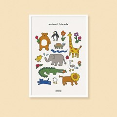 animal friends poster a3/a2