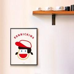 일본 유니크 인테리어 디자인 포스터 M 곤니치와 칸나