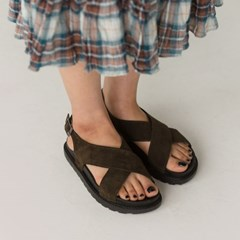 bold cross strap sandal