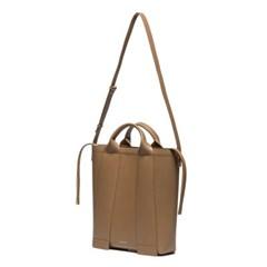 W.strap BAG_L brown 와이드 스트랩백