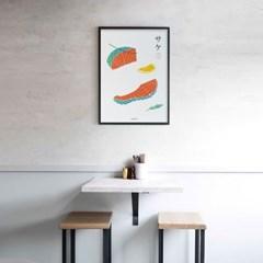 유니크 일본 인테리어 디자인 포스터 M 연어 일본소품