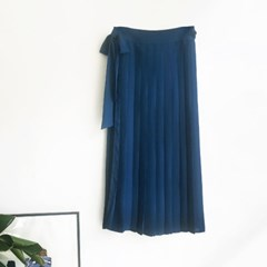 Pleats Wrap SKIRT (2-color)