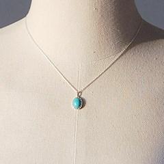 [하우즈쉬나우] Blue Moon, 천연 터키석 Necklace (12월 탄생석)
