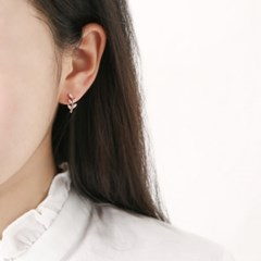 리프 로즈골드 귀걸이