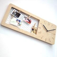 자작나무 에듀철망 시계