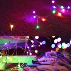LED 드럼 와이어전구 100P 칼라 (건전지용/방수)_(301528855)