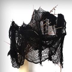 빈티지 거즈 커튼데코 블랙 [71cm x 290cm]_(301527217)