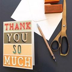 카발리니 카드-Thank you typography
