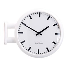 모던 양면시계 라인 양면벽시계