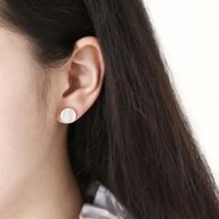 [925실버] 라운드 자개 귀걸이