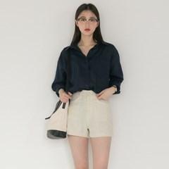 7color loose fit linen shirts