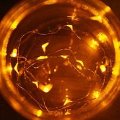 LED 20P 와이어 건전지(밧데리)전구 [웜]