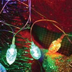 LED 32P 솔방울 이색투명선 (칼라)-3m