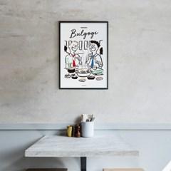 유니크 인테리어 디자인 포스터 M 불고기