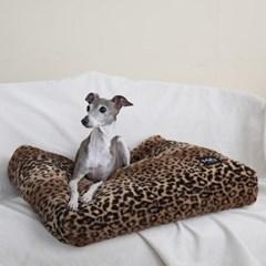 멜리펫 강아지방석 레오파드 브라운