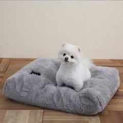 멜리펫 강아지방석 퍼 그레이