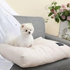 멜리펫 강아지방석 플레인 아이보리