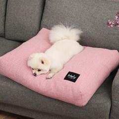 멜리펫 강아지방석 플레인 핑크