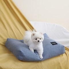 멜리펫 강아지방석 플레인 블루