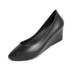 [W6] Wedge Heel6 - Pointed Solid Black (W6-P-WSB-)