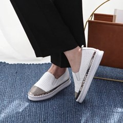 kami et muse Cubic toe leather slip on_KM18s225