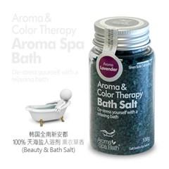 Aroma Spa Bath 국산 천일염 입욕제 100g_라벤더향