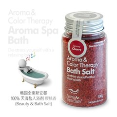 Aroma Spa Bath 국산 천일염 입욕제 100g_체리향