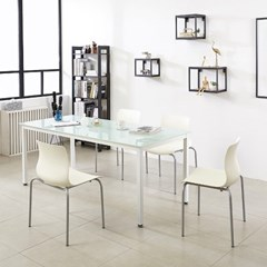K33 스틸 1800 테이블 의자 세트_(1567345)