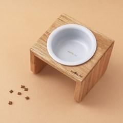 [반달펫] 반려동물 원목식탁 도자기 세트(미디움1구)