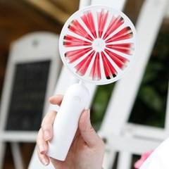 토네이도 회전 LED 미니 핸디 선풍기