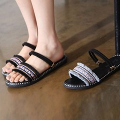 kami et muse Color band flat slippers_KM18s227