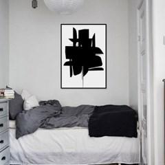 패브릭 포스터 추상화 인테리어그림 액자 블랙 3