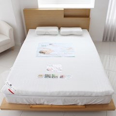 누우면 편안한 알로에 메모리폼 토퍼 바닥 요 침대 패드