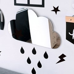 키즈 구름 거울 +시트지set / 아크릴 안전거울