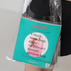 lettering clear bag