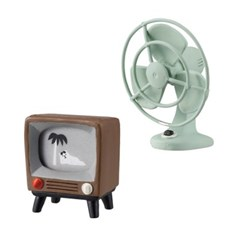 데꼴 TV와 선풍기 피규어