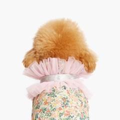 글리터 메쉬 케이프 핑크