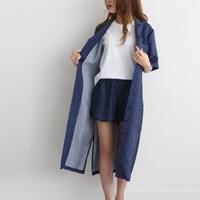 풍기인견 스칸디콜렉션 여름로브 잠옷반바지 세트
