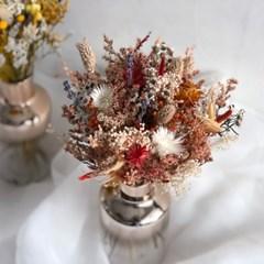 [프리저브드] 잔꽃 미니 꽃다발 - yellow/ orange