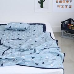 풍기인견 스칸디콜렉션 여름 쿨매트 아기인견패드 90X140