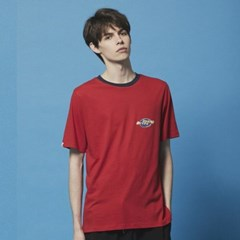 Color neck Space logo TEE_DT204 Red