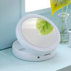 LED 접이식 거울 (10배확대경/USB전원/건전지타입/무드_(1577293)